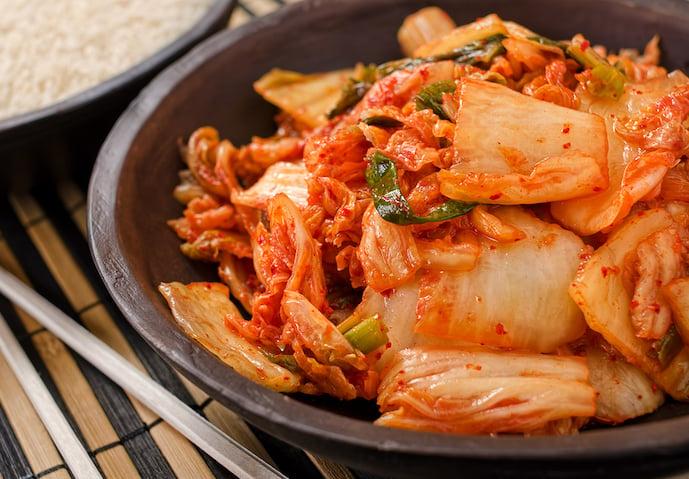 Kimchi in a bowl - Korean food