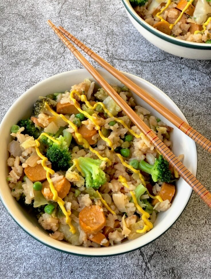 Chicago-Style Vegan Hot Dog Fried Rice