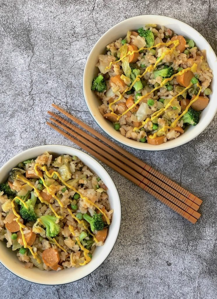 Vegan Hot Dog Fried Rice, Chicago-Style