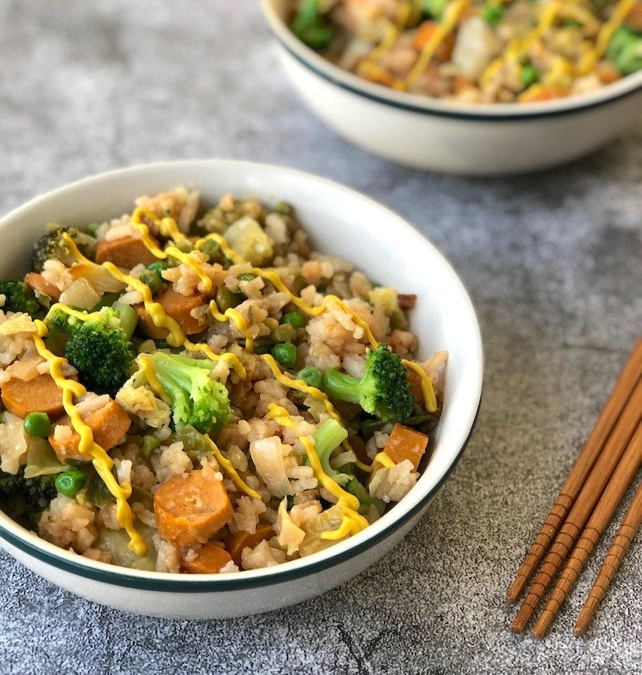 Vegan Hot Dog Fried Rice