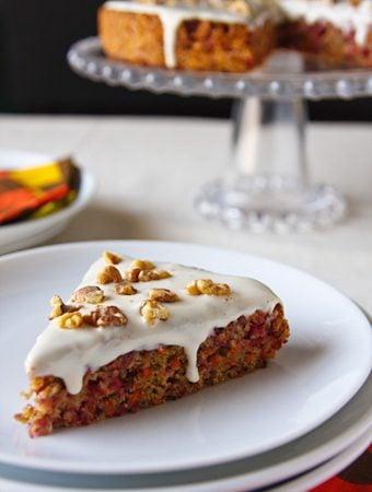 Vegan Cranberry-Carrot Cake