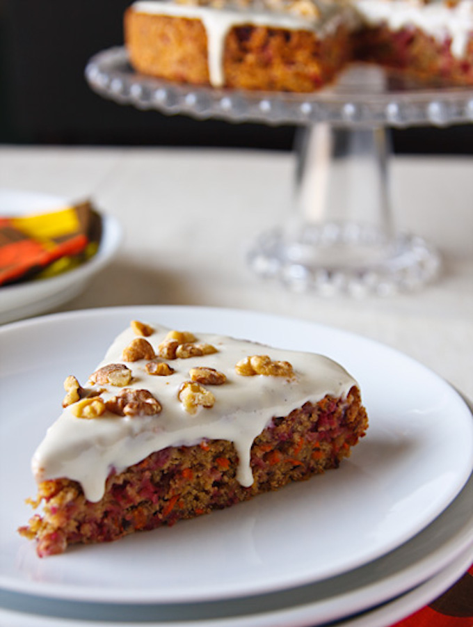 Vegan Cranberry-Carrot Cake