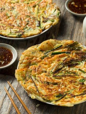 Korean-Style Scallion and Kimchi Pancakes
