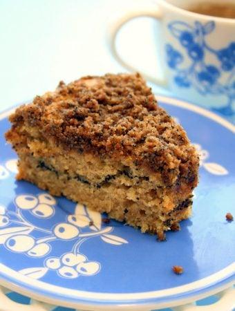 Vegan Poppy Seed Coffee Cake
