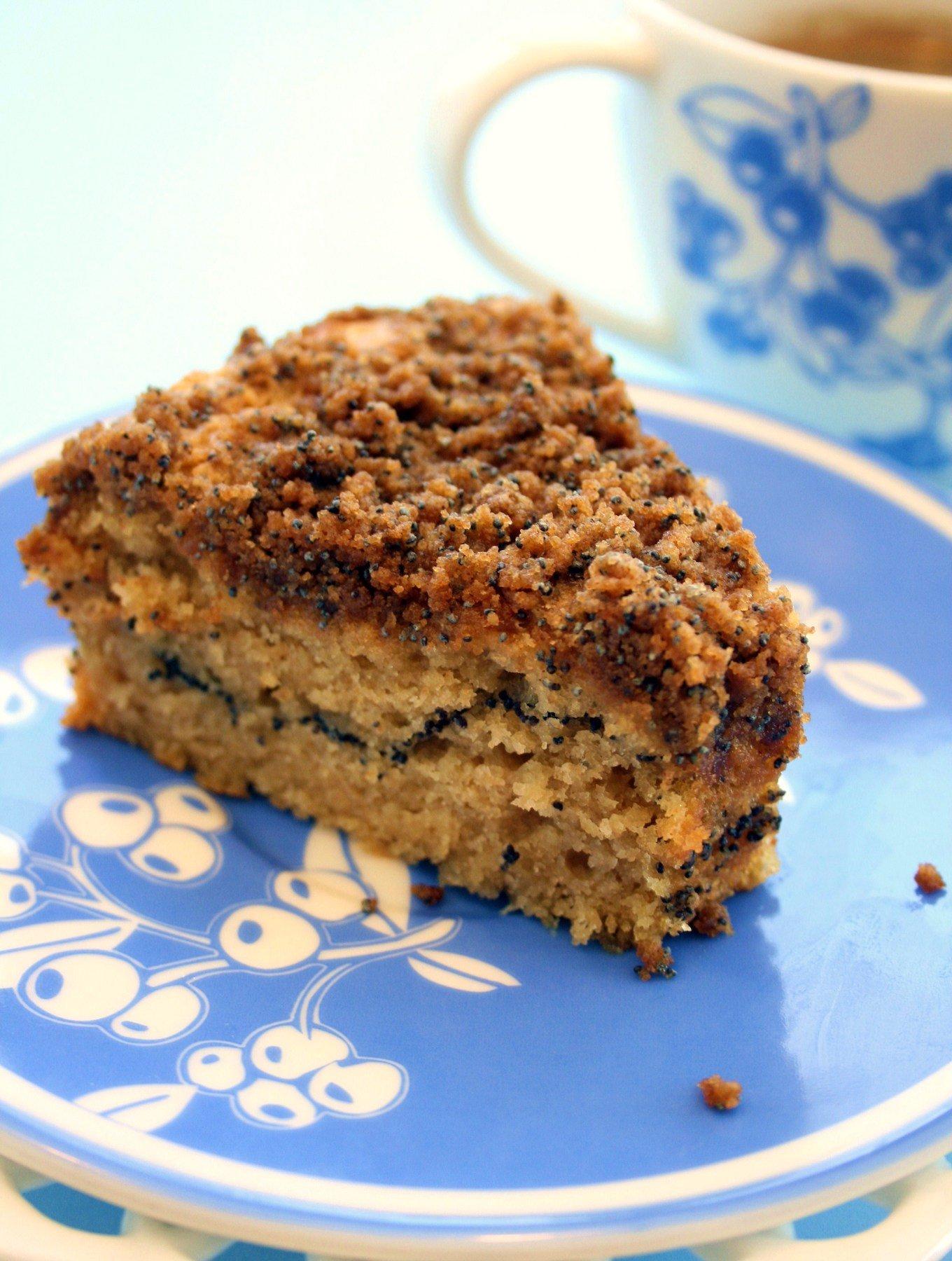 Vegan Poppy Seed Coffee Cake