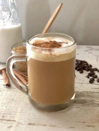 Cinnamon Vegan Oat Milk Latte