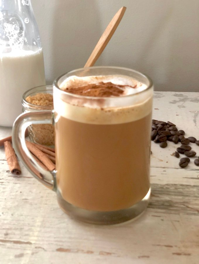 Cinnamon Vegan Oat Milk Latte