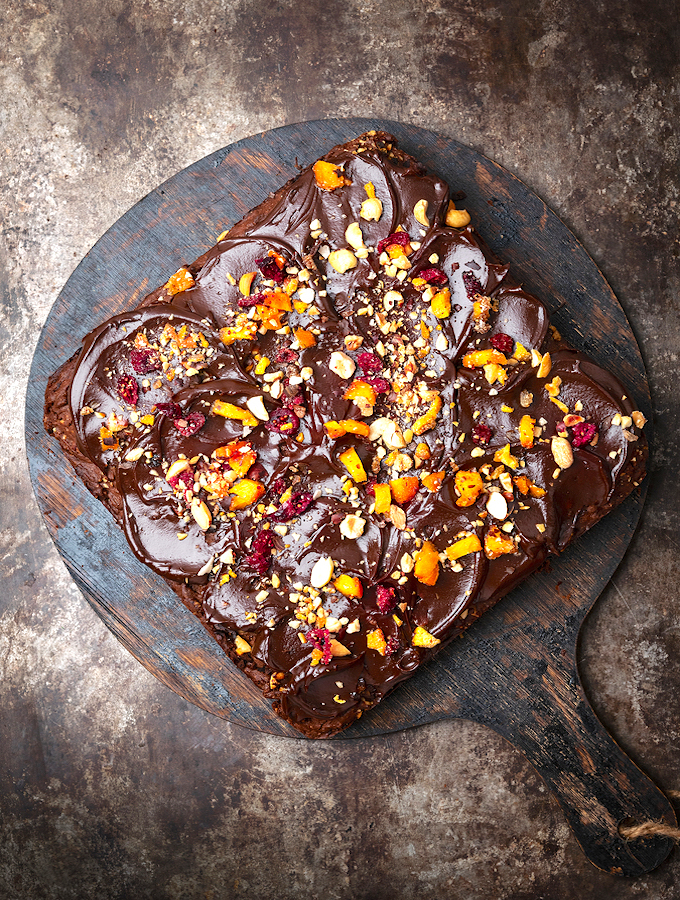 Vegan Chocolate Brownie Cake