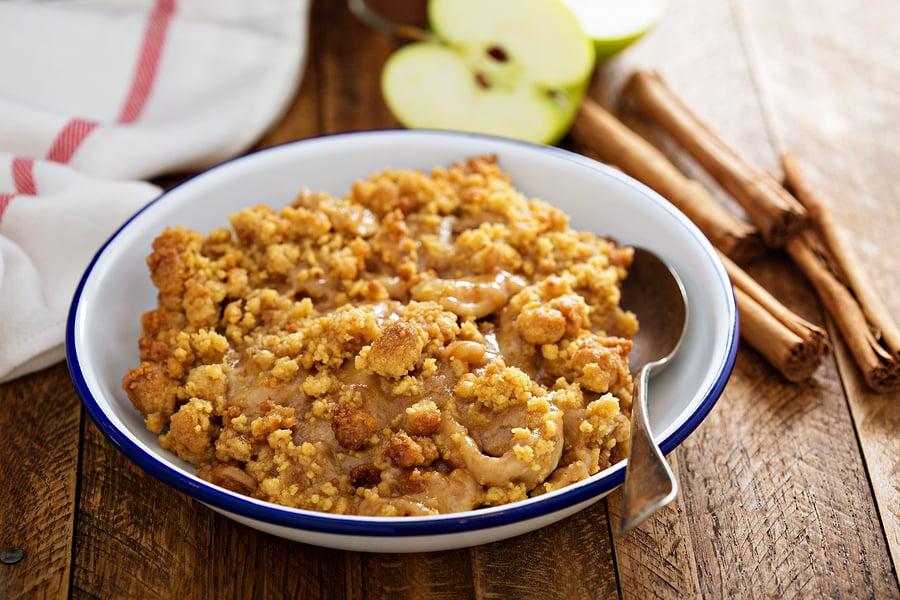 Vegan Pear or Apple Crumble