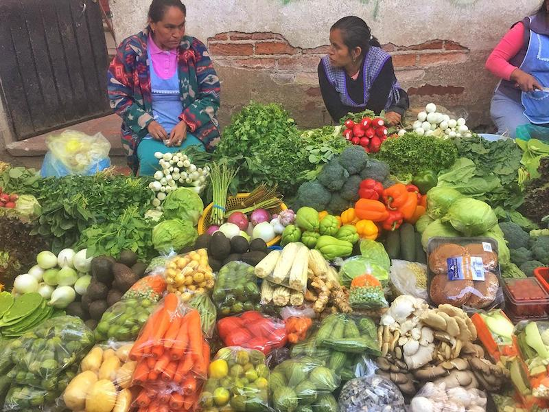 Vegetable market in Mexico