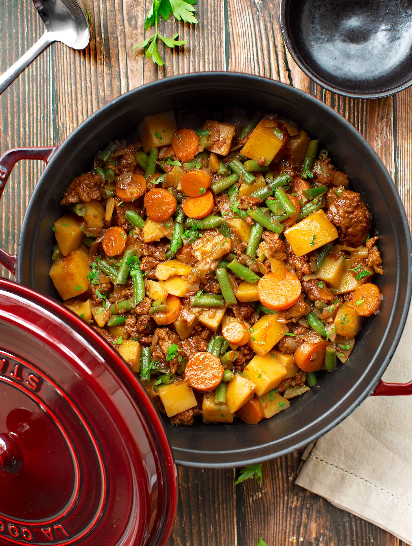 Vegan Beefy seitan stew