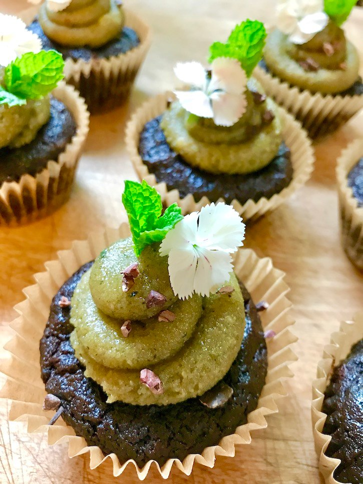 Chocolate Cupcake with Fresh Mint Buttercream-Sow Good Bakery