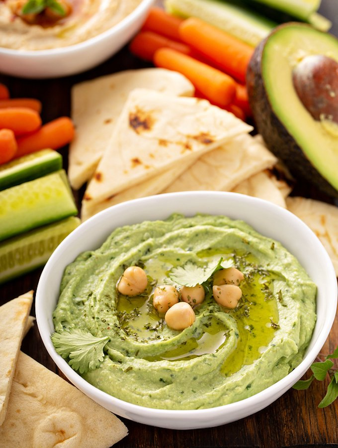 Cilantro Avocado Hummus