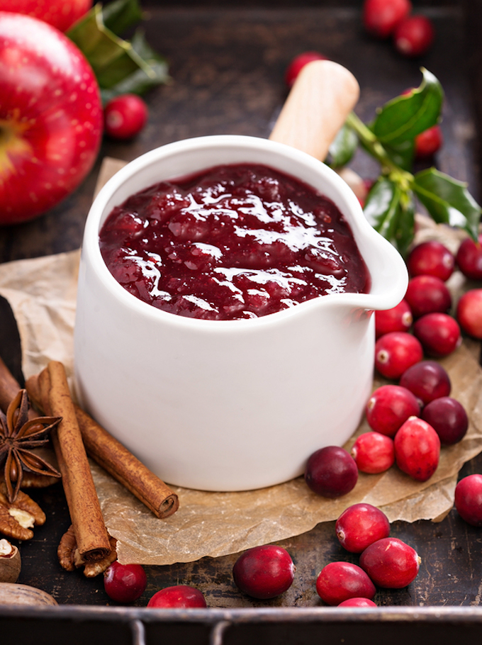Fresh cranberry apple sauce