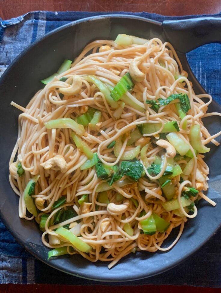 Ginger-Hoisin noodles with bok choy