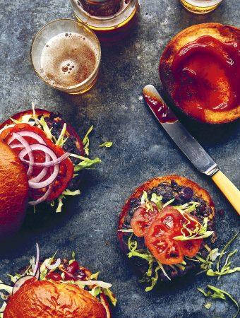 Mushroom and Kidney Bean Burgers1
