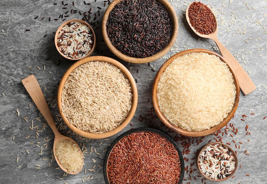 Exotic rice varieties
