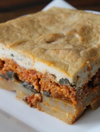 Vegan Moussaka made with Beyond