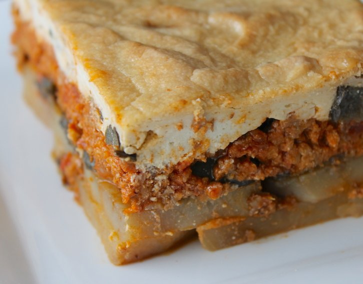 Vegan Moussaka with Beyond Beef Plant-Based Ground