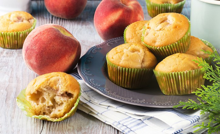 Vegan Peach or nectarine muffins