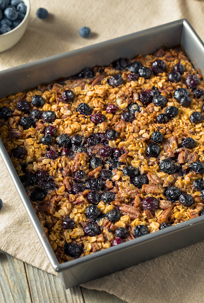 Vegan Blueberry Baked Oatmeal