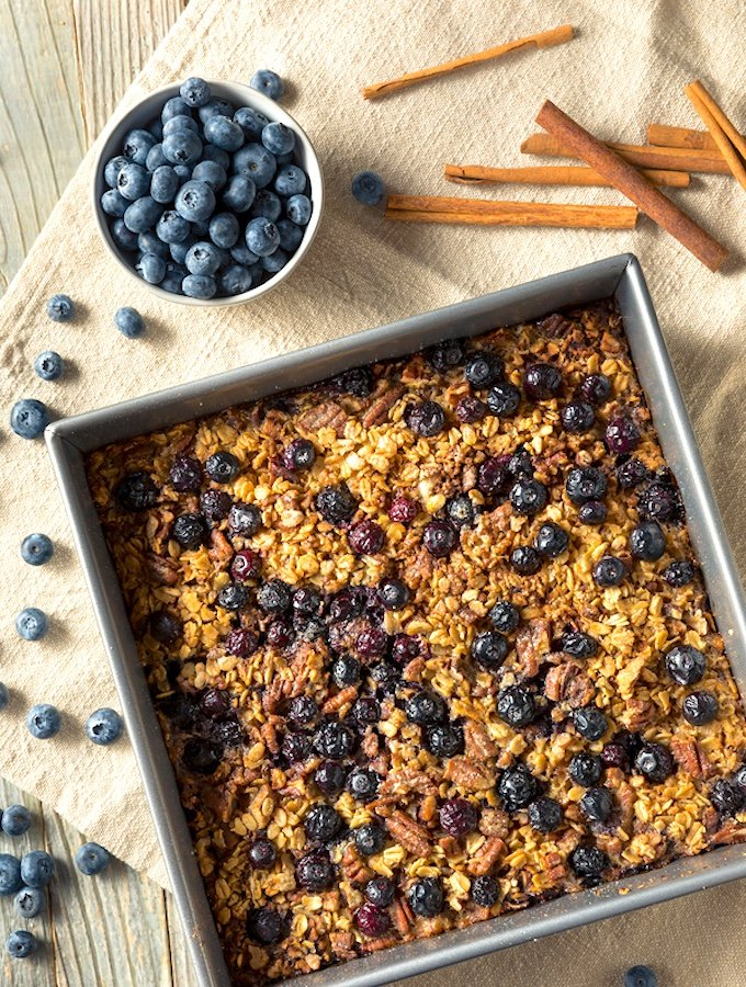 Homemade Blueberry Baked Oatmeal