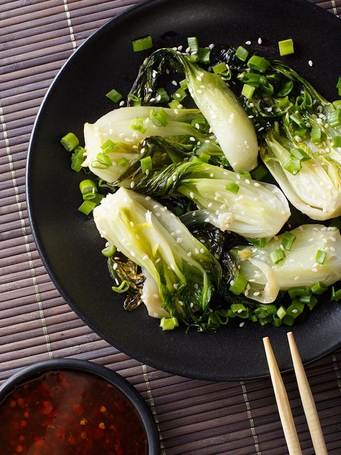 Ginger & Garlic Stir-Fried Bok Choy