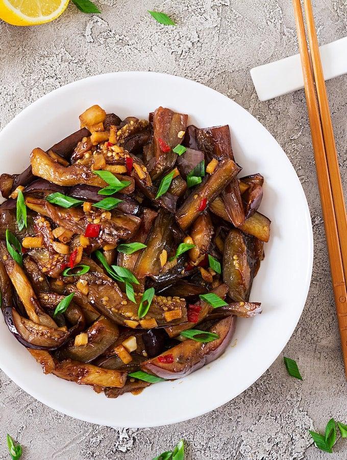 Spicy Korean Eggplant