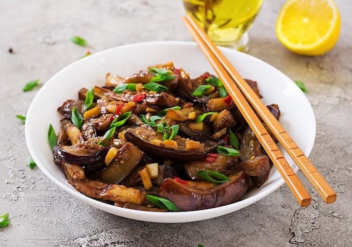 Korean Spicy Eggplant