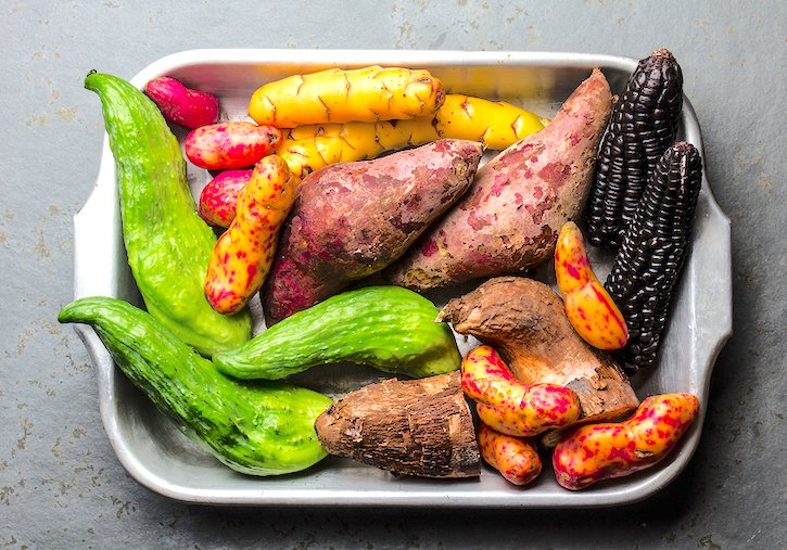 Latin and South American vegetables