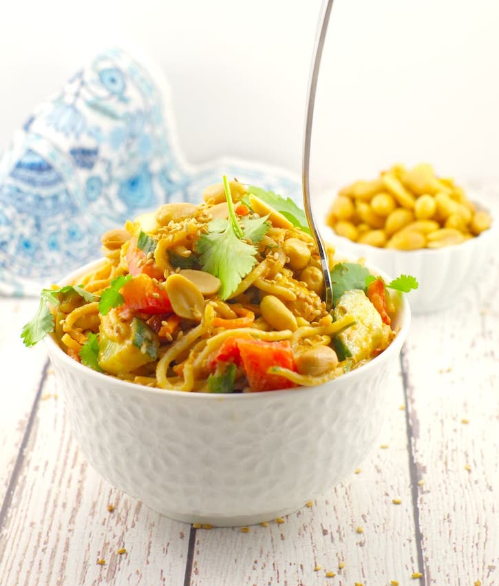 Spicy-Vegan Peanut Pasta Salad