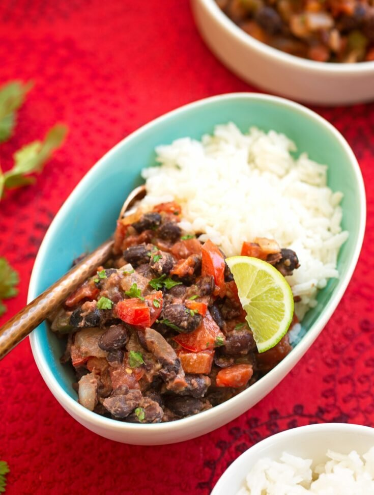 Vegan Black bean sofrito