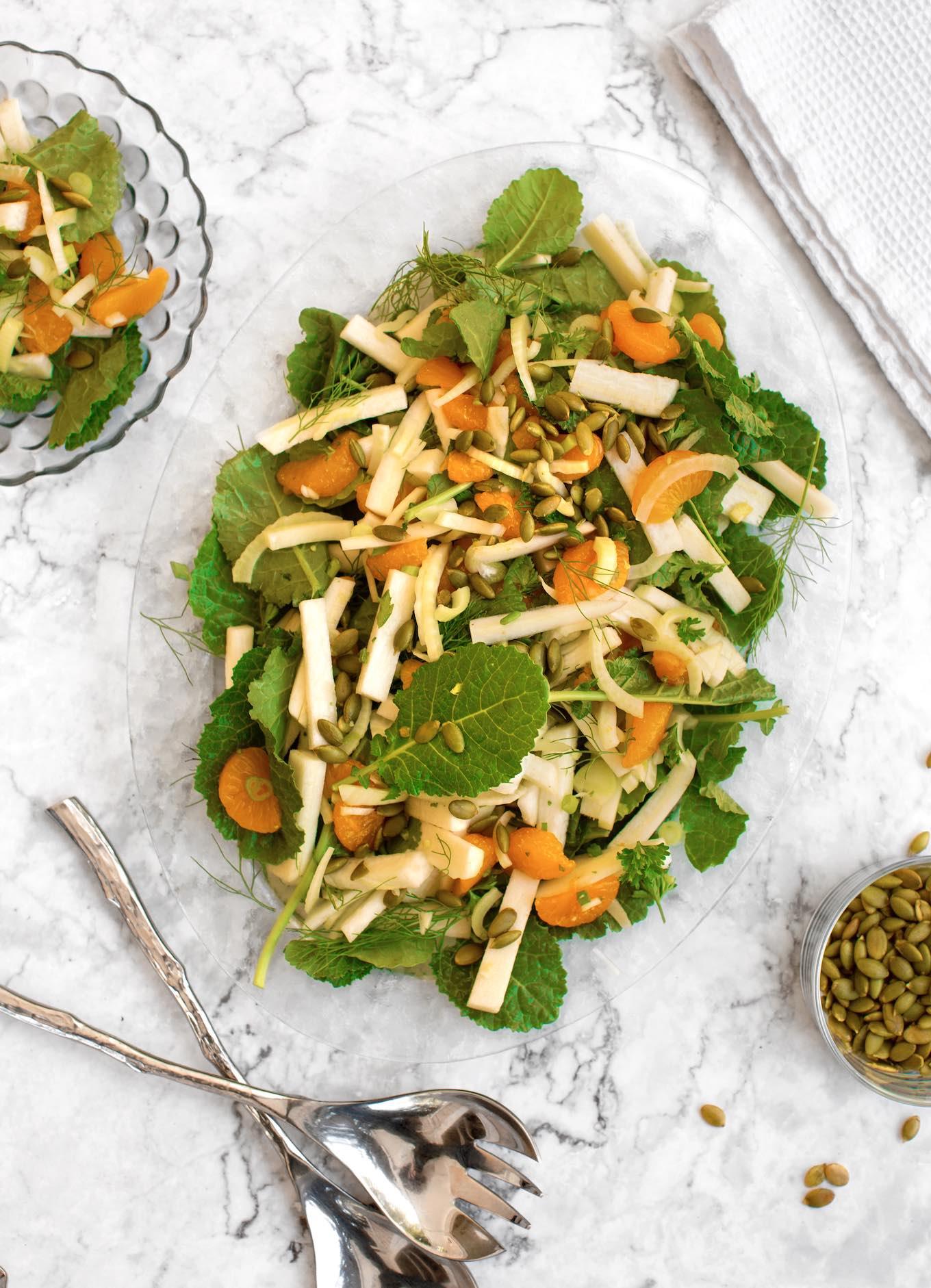Jicama, fennel, & citrus salad