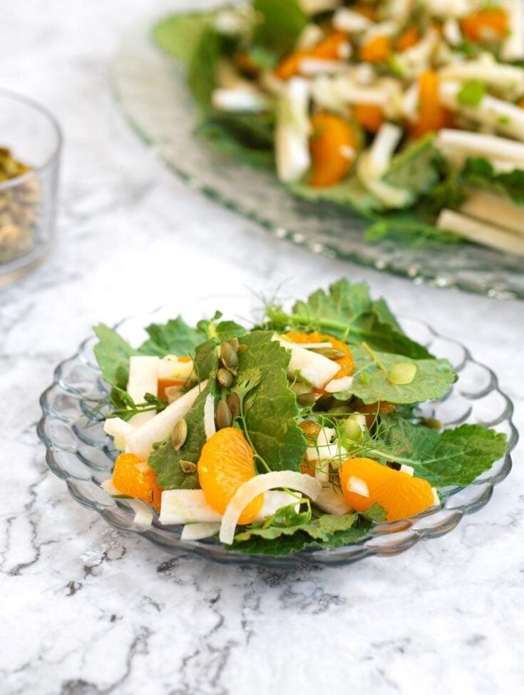 Jicama & fennel salad with oranges & herbs