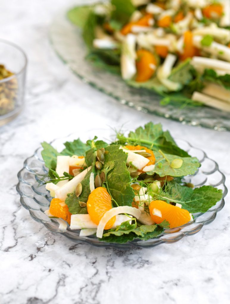 Jicama & fennel salad with oranges & herbs