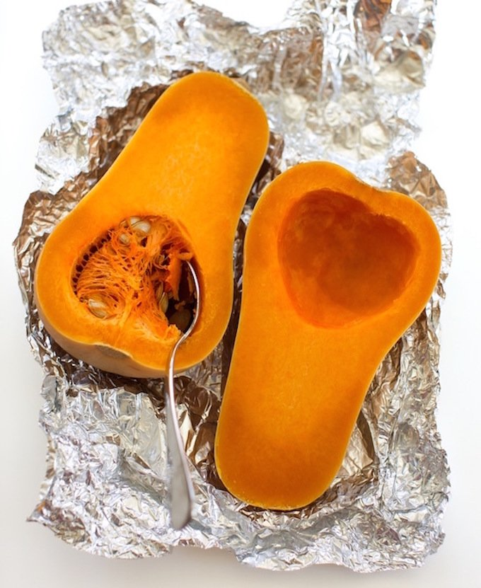 Partially baked buttenut squash