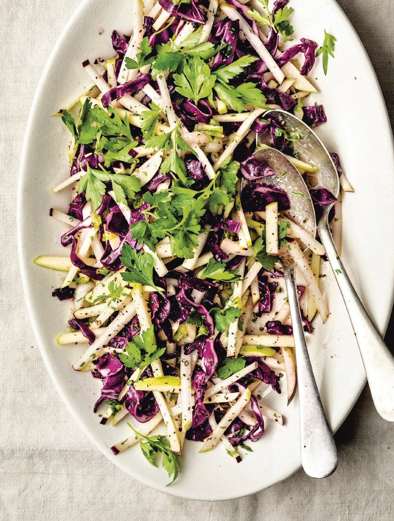 Apple And Kohlrabi Coleslaw The Vegan Atlas