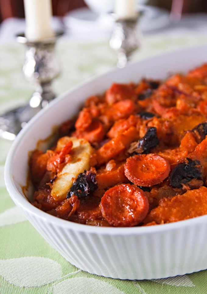 carrot & sweet potato tzimmes