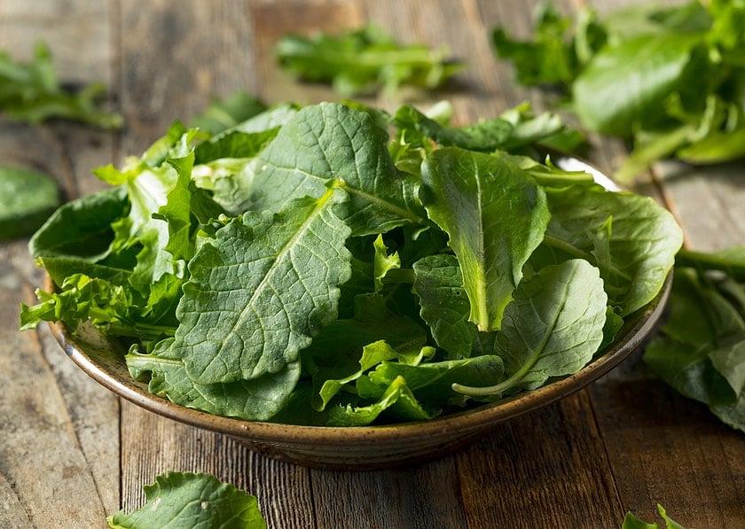 baby kale greens