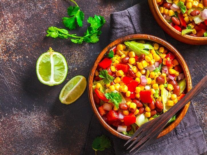 Pinto bean and corn salad