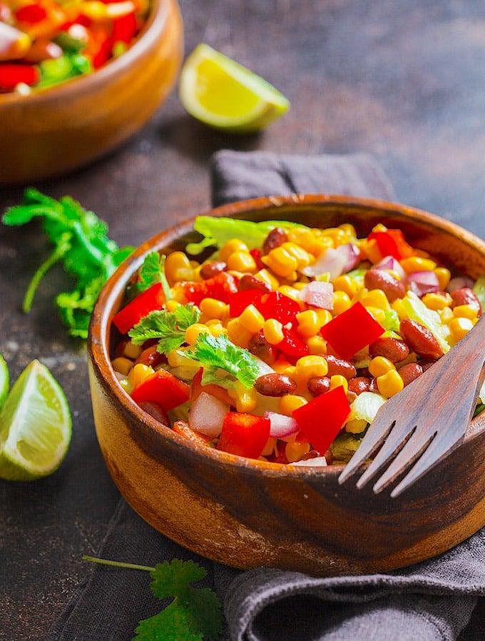 Corn and pinto bean salad