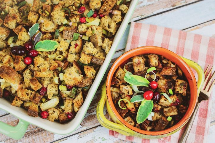 Cranberry Leek Apple Whole Grain Stuffing