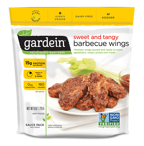 Gardein barbecue chick'n wings