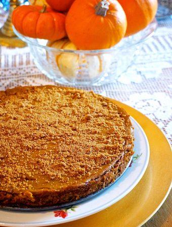 Laura Theodore's pumpkin cheeze-cake