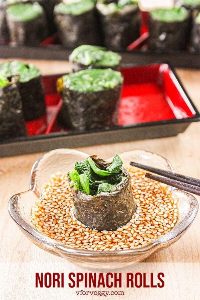 Nori spinach rolls