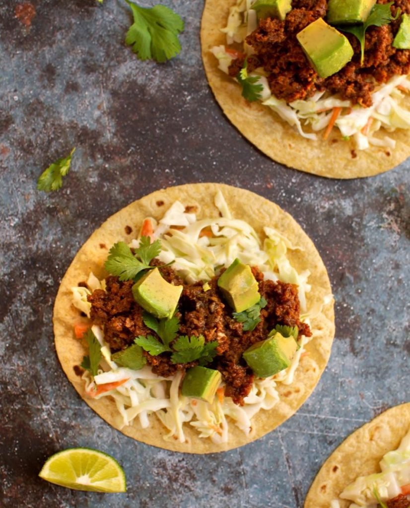Plant-based Beefy tacos