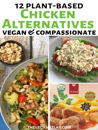 Plant-based chicken alternatives graphic