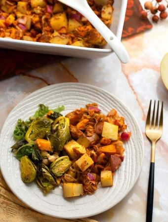 Vegan Potato, Sauerkraut, and Apple Stuffing recipe