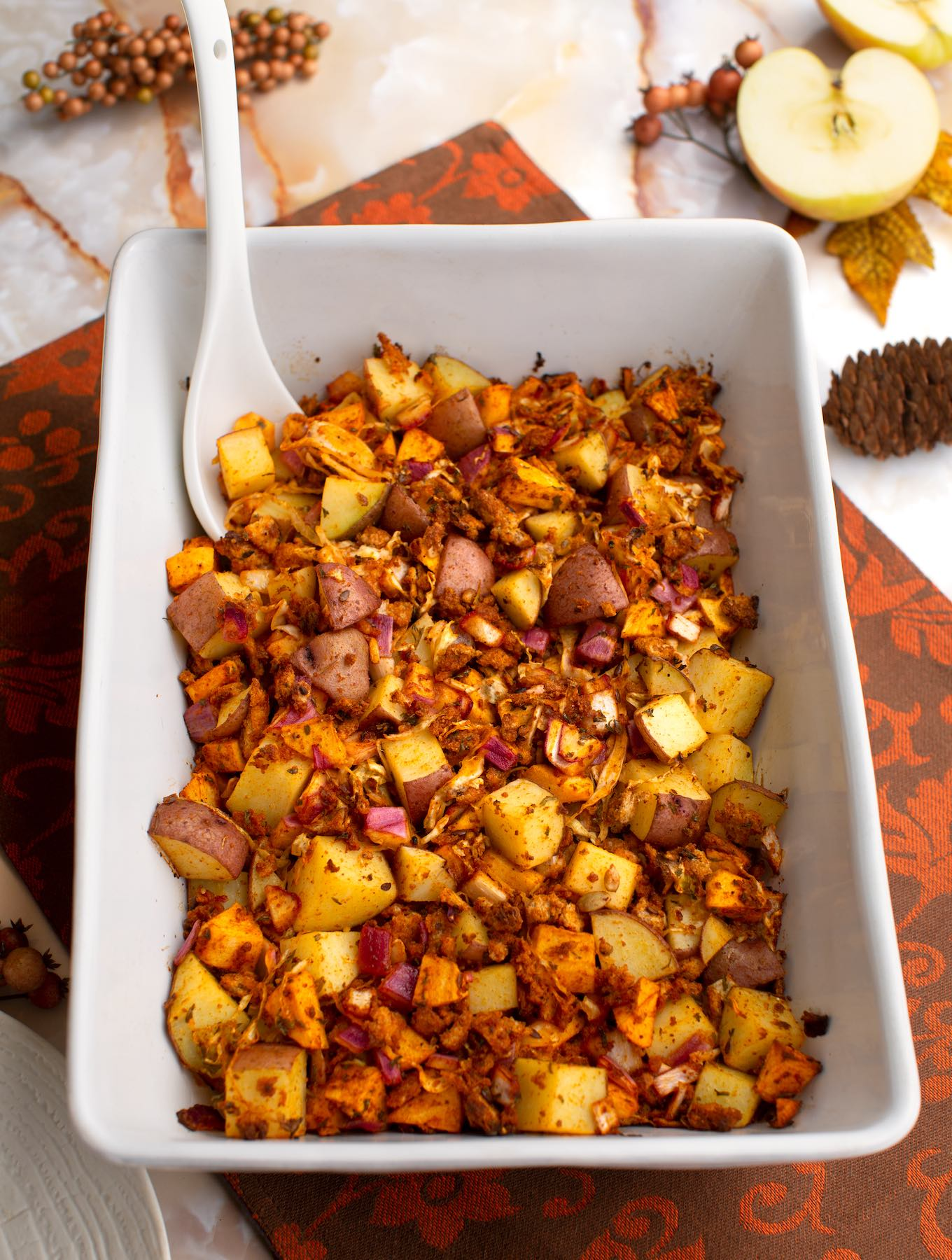 Potato, apple, & sauerkraut stuffing