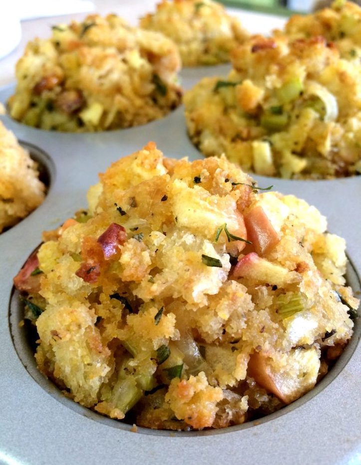 Sourdough Stuffing Muffins with Apple & Fresh Herbs